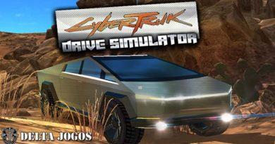 Jogo CyberTruk Tesla Drive Simulator